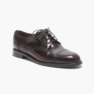 Madewell Keaton Oxford Red Brown 9.5